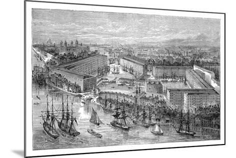St Katherine's Docks, London, Late 19th Century--Mounted Giclee Print