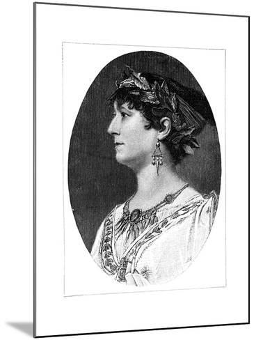 Charlotte Wolter, 19th Century Austrian Actress--Mounted Giclee Print