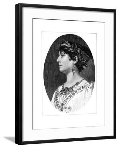Charlotte Wolter, 19th Century Austrian Actress--Framed Art Print