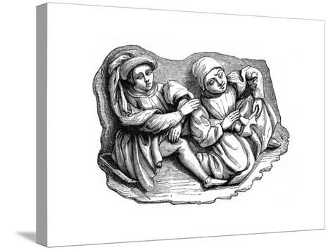 Carved Wood Relief, 15th Century--Stretched Canvas Print