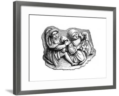 Carved Wood Relief, 15th Century--Framed Art Print