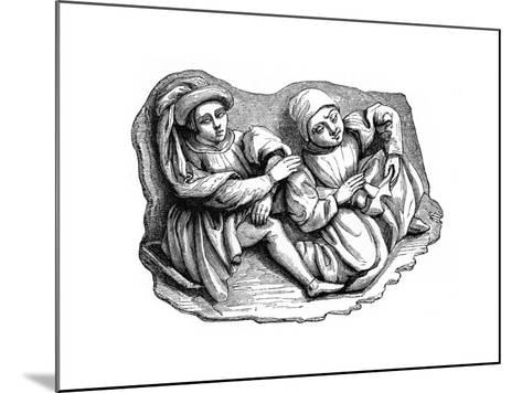 Carved Wood Relief, 15th Century--Mounted Giclee Print