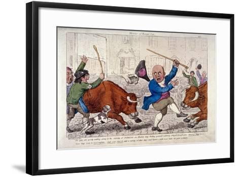 Miseries of Human Life, Smithfield Market, London, C1800-George Moutard Woodward-Framed Art Print