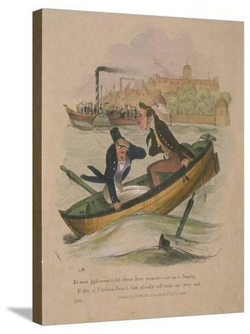 It's Most Hinfamous to Let These Here Steamers Out on a Sunday..., 1834-Henry Heath-Stretched Canvas Print