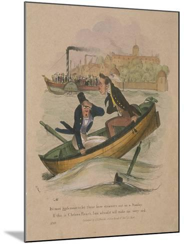 It's Most Hinfamous to Let These Here Steamers Out on a Sunday..., 1834-Henry Heath-Mounted Giclee Print