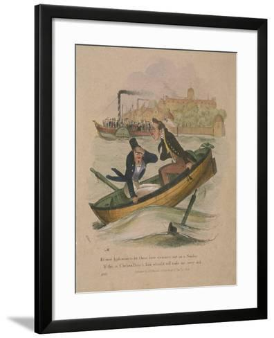 It's Most Hinfamous to Let These Here Steamers Out on a Sunday..., 1834-Henry Heath-Framed Art Print
