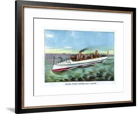 United States Torpedo Boat 'Cushing', 1890S--Framed Art Print