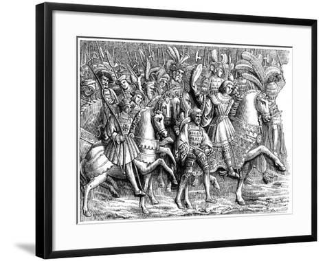 Meeting at the Field of the Cloth of Gold, C16th Century--Framed Art Print