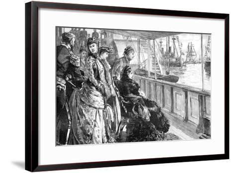 The Queen Reviewing the Fleet at Spithead, Hampshire, Late 19th Century--Framed Art Print