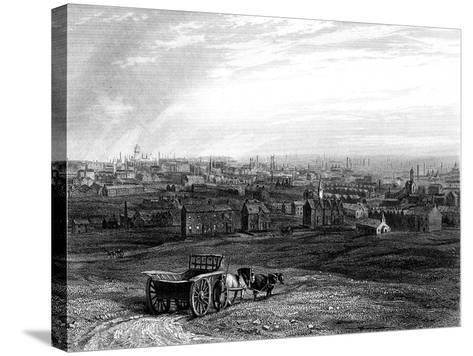 View of Leeds, Yorkshire, Early 19th Century--Stretched Canvas Print