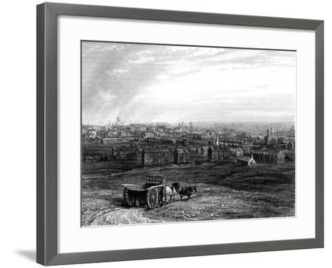 View of Leeds, Yorkshire, Early 19th Century--Framed Art Print