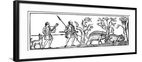 Swine Hunting, 9th Century--Framed Art Print
