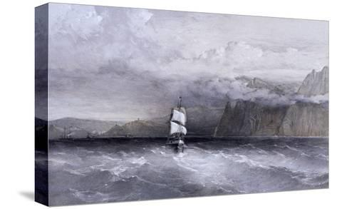 Cape Aiya, Looking North Towards Balaklava, Crimea, Ukraine, 1855-William Simpson-Stretched Canvas Print