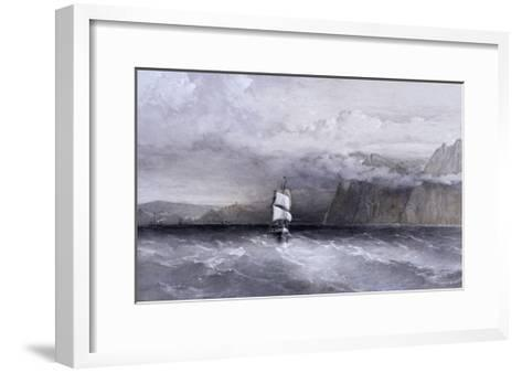 Cape Aiya, Looking North Towards Balaklava, Crimea, Ukraine, 1855-William Simpson-Framed Art Print