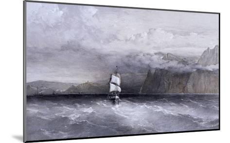 Cape Aiya, Looking North Towards Balaklava, Crimea, Ukraine, 1855-William Simpson-Mounted Giclee Print