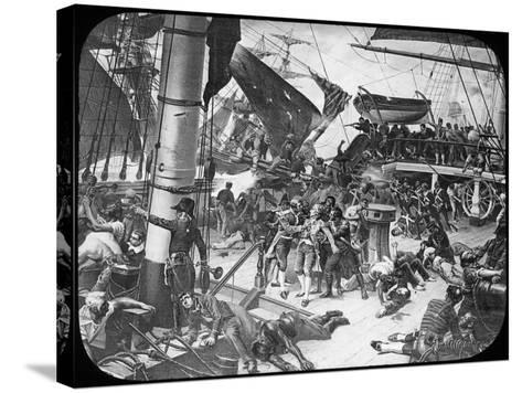 The Deck of HMS Victory, 1805-Newton & Co-Stretched Canvas Print