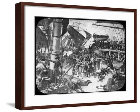 The Deck of HMS Victory, 1805-Newton & Co-Framed Art Print