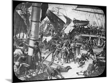 The Deck of HMS Victory, 1805-Newton & Co-Mounted Giclee Print
