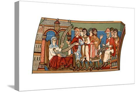Naming of St John the Baptist, 12th Century--Stretched Canvas Print