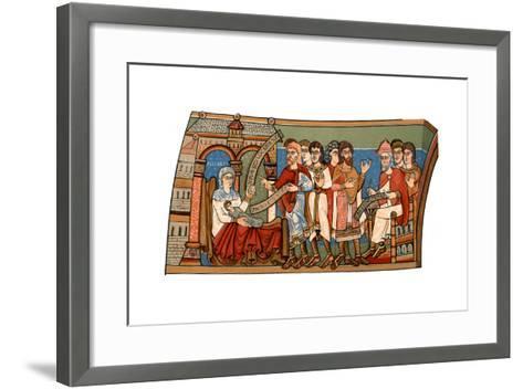 Naming of St John the Baptist, 12th Century--Framed Art Print