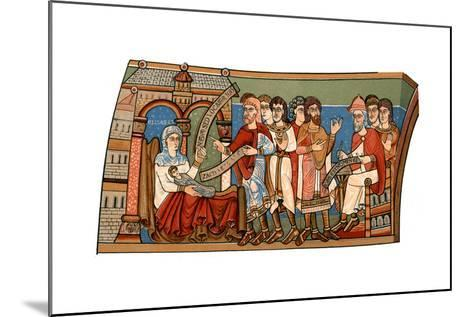 Naming of St John the Baptist, 12th Century--Mounted Giclee Print