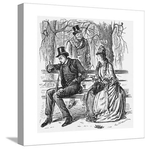 The New Science, 1887-George Du Maurier-Stretched Canvas Print