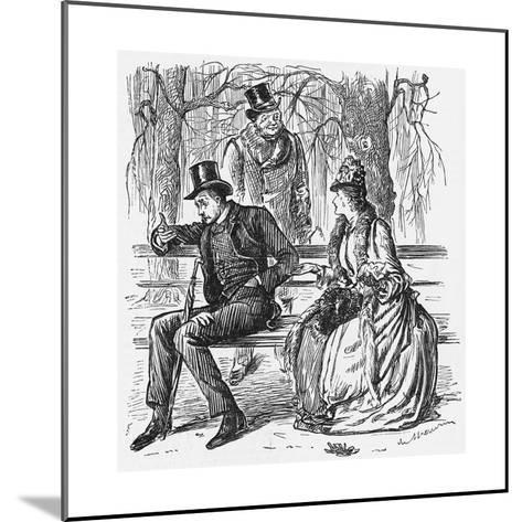 The New Science, 1887-George Du Maurier-Mounted Giclee Print