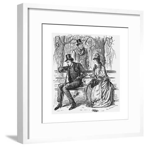 The New Science, 1887-George Du Maurier-Framed Art Print