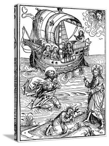 Scene from the Schatzbehalter, 1491-Michael Wohlgemuth-Stretched Canvas Print