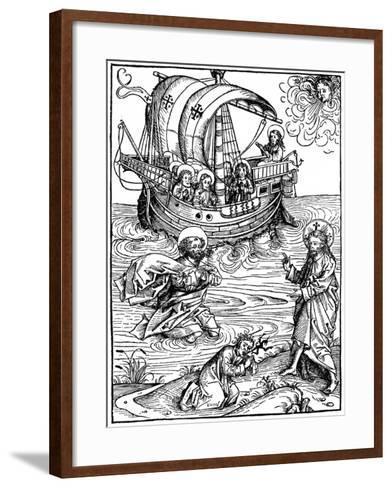 Scene from the Schatzbehalter, 1491-Michael Wohlgemuth-Framed Art Print