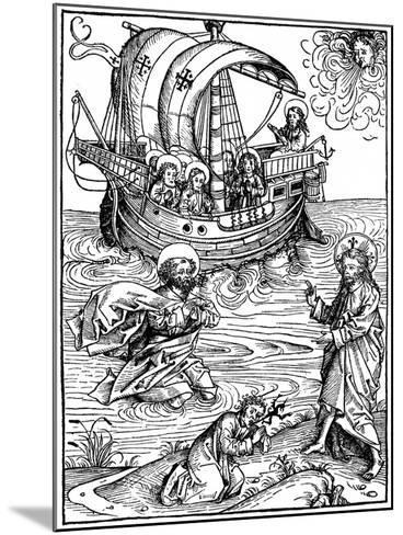 Scene from the Schatzbehalter, 1491-Michael Wohlgemuth-Mounted Giclee Print