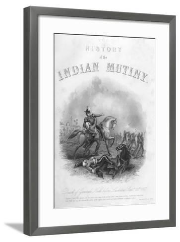 Death of General Neill before Lucknow, 25th September 1857--Framed Art Print
