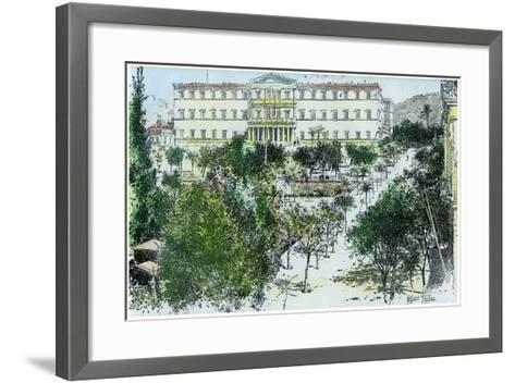 The Royal Palace, Athens, Greece, C1890-Rhemaidez Freres Rhemaidez Freres-Framed Art Print