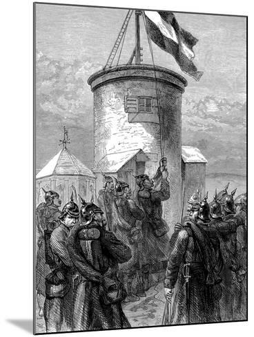 Prussian Troops Hoisting their Flag at Valerien, Franco-Prussian War, 1870-1871--Mounted Giclee Print
