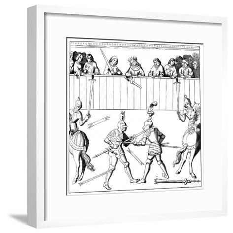 A Fight to the Death, 15th Century--Framed Art Print
