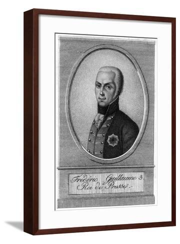 Frederick William III, King of Prussia, 19th Century--Framed Art Print