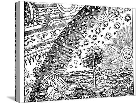 Reconstruction of a Medieval Conception of the Universe, 19th Century--Stretched Canvas Print