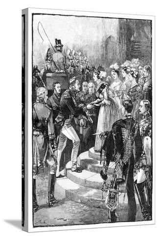 Reception of Louis Philippe at Windsor Castle, 1844--Stretched Canvas Print