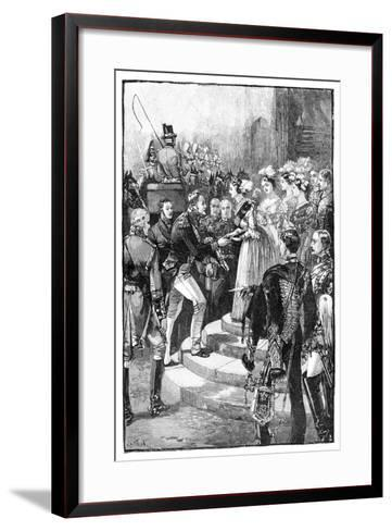 Reception of Louis Philippe at Windsor Castle, 1844--Framed Art Print