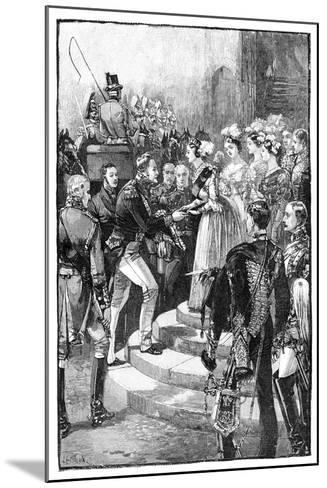 Reception of Louis Philippe at Windsor Castle, 1844--Mounted Giclee Print