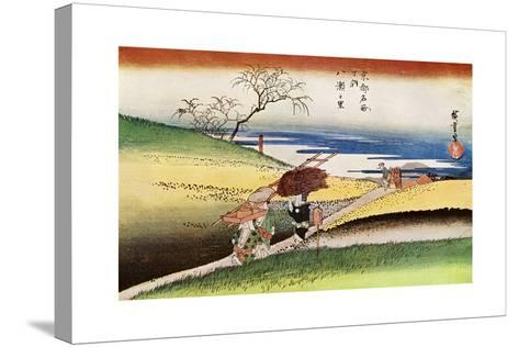 Yase No Sato' ('Peasants Going Home at Yase), C1833-1834-Ando Hiroshige-Stretched Canvas Print