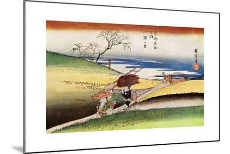 Yase No Sato' ('Peasants Going Home at Yase), C1833-1834-Ando Hiroshige-Mounted Giclee Print
