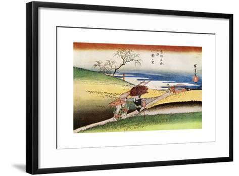 Yase No Sato' ('Peasants Going Home at Yase), C1833-1834-Ando Hiroshige-Framed Art Print