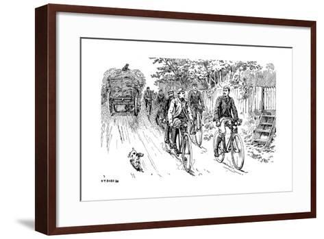 A British Cycle Club Out for a Country Ride, 1895--Framed Art Print