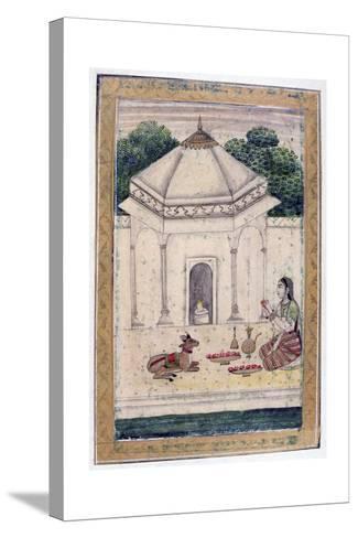 Bhairavi Ragini, Ragamala Album, School of Rajasthan, 19th Century--Stretched Canvas Print