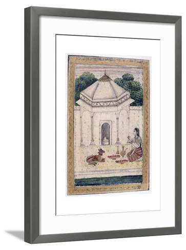 Bhairavi Ragini, Ragamala Album, School of Rajasthan, 19th Century--Framed Art Print