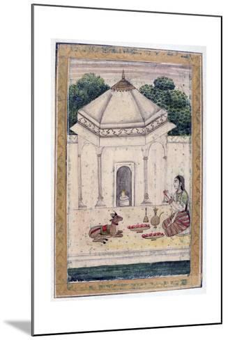 Bhairavi Ragini, Ragamala Album, School of Rajasthan, 19th Century--Mounted Giclee Print