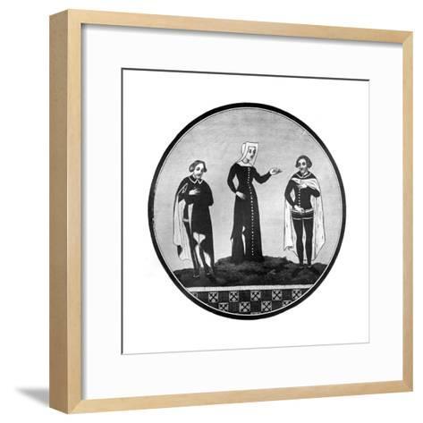 Mourning Habits, 14th Century--Framed Art Print