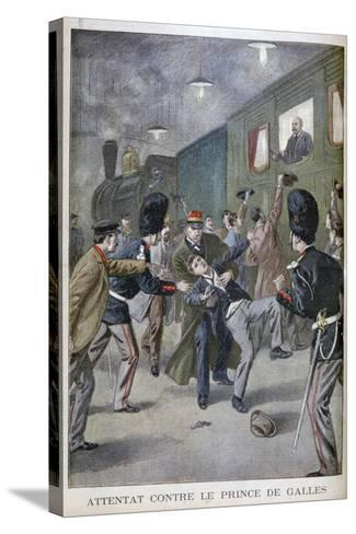 Attempted Attack on Edward, Prince of Wales in Brussels, 1900--Stretched Canvas Print