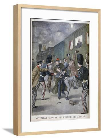 Attempted Attack on Edward, Prince of Wales in Brussels, 1900--Framed Art Print